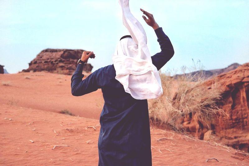Desert Sand Arabs Sky