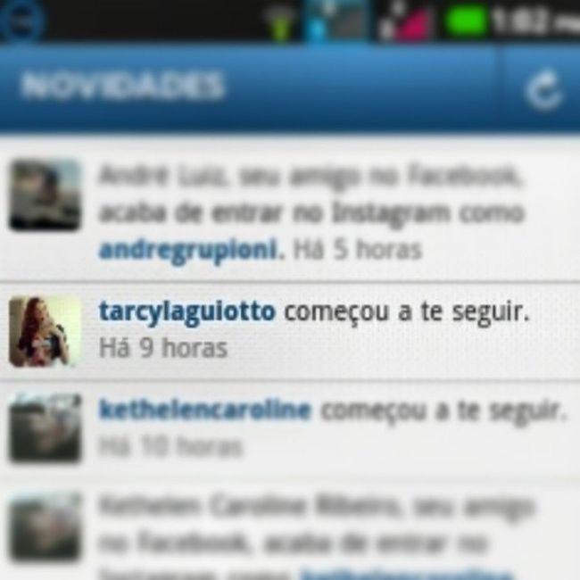 Ok. Já posso chorar de emoção... Obrigado minha linda, @tarcylaguiotto... Printscreen Instafollow Famous Vloguer