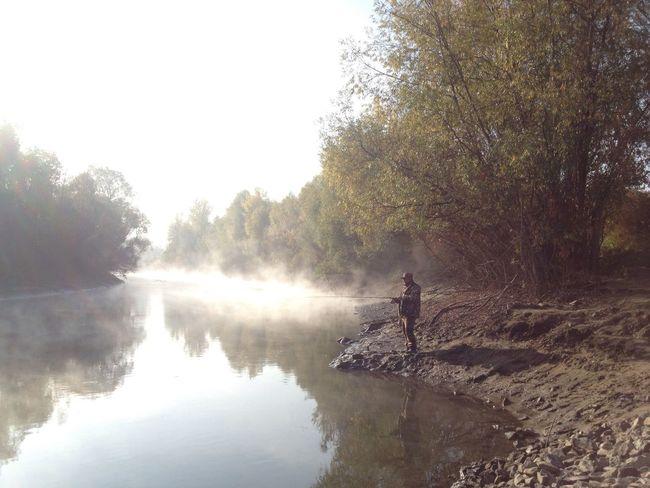 Lake Foggy Fog Morning Nature Russia Siberia