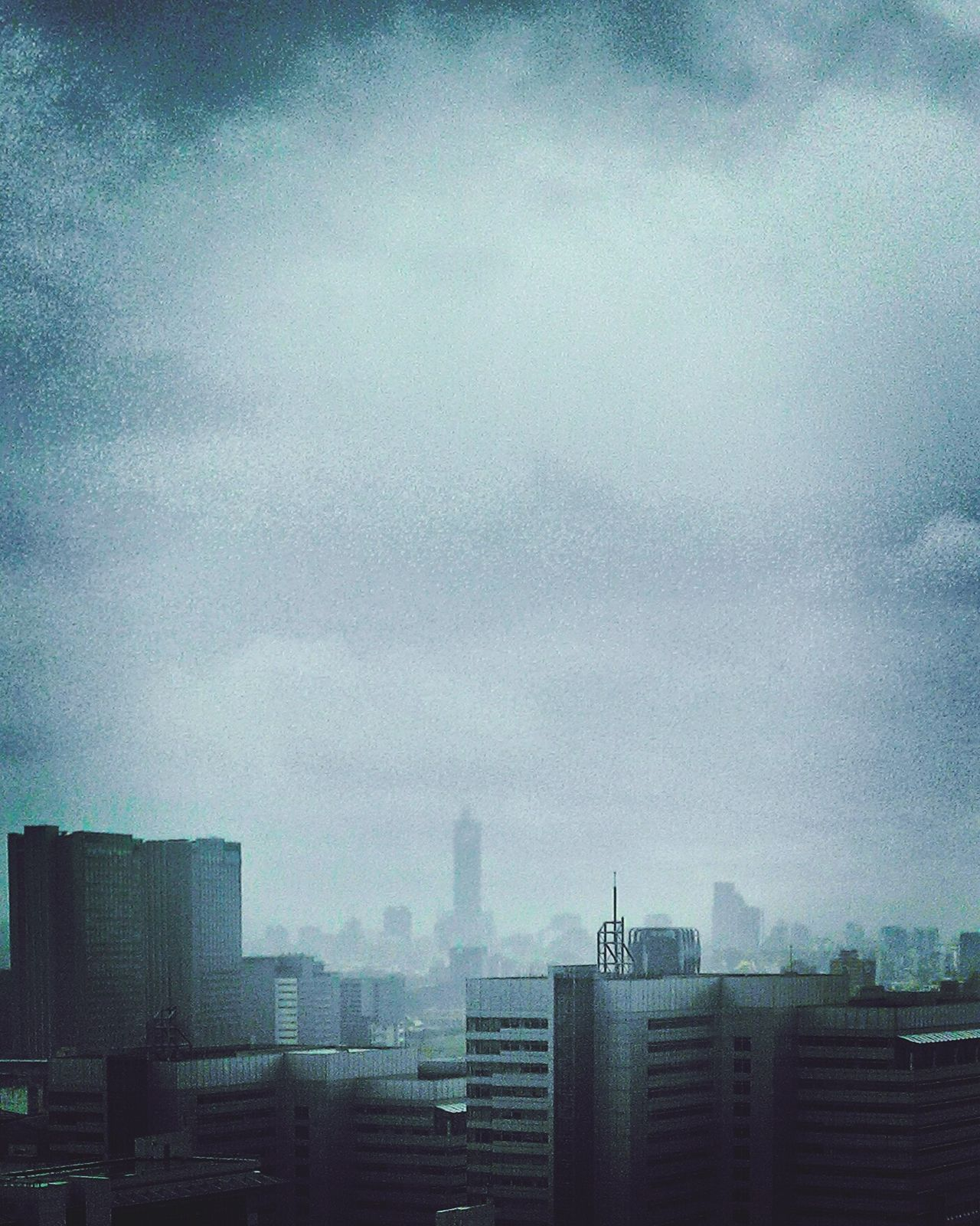 Cold Days Blue Blue Monday Dark Skyline