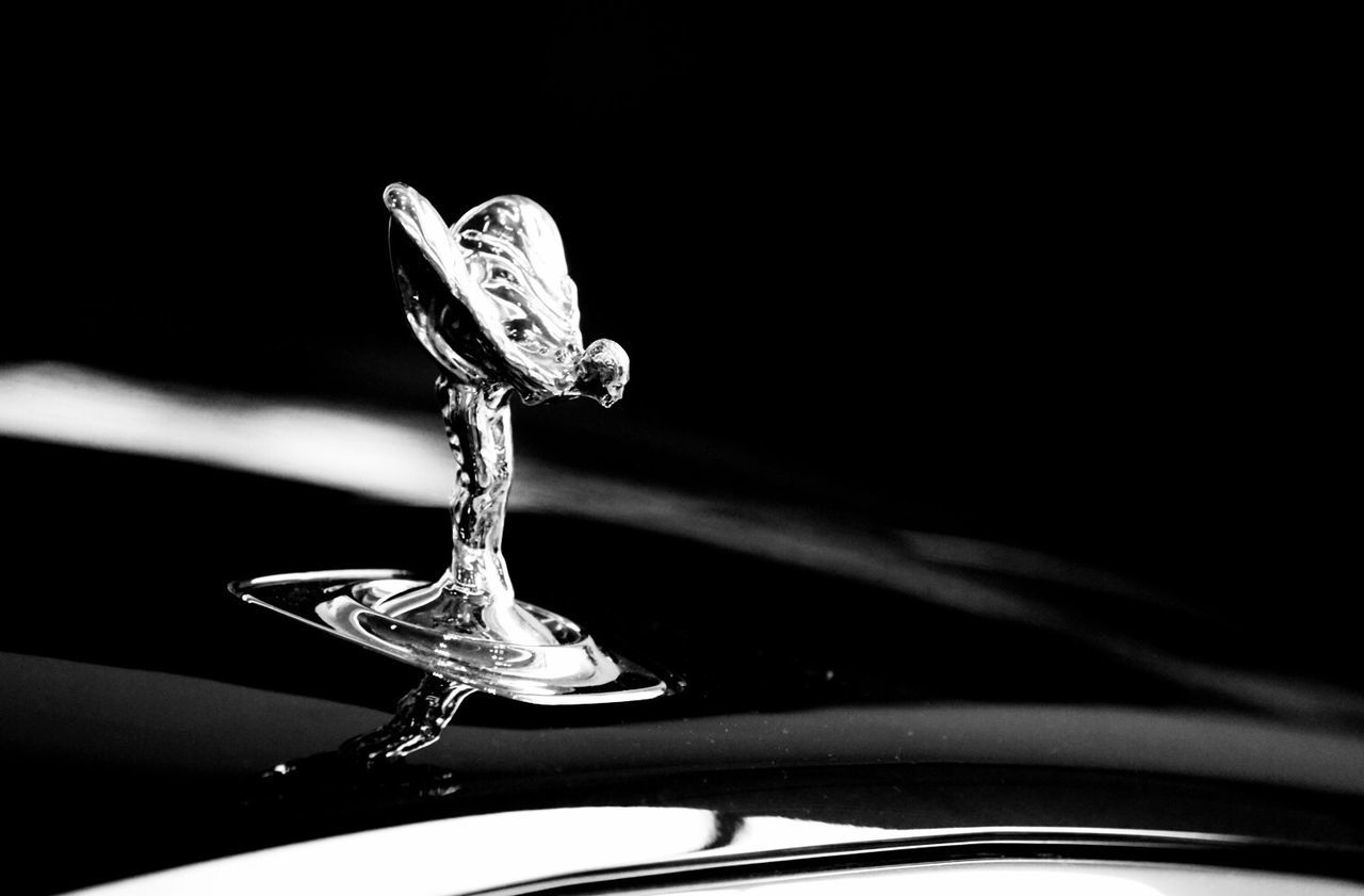 Rolls Royce Close-up No People Indoors  Black Background Day