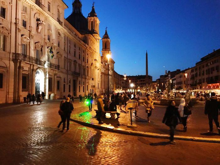 Piazza Navona by night Italy❤️ Roma Roadtrip Citylights