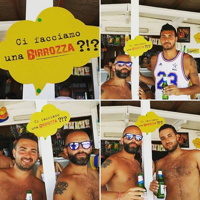 Ci facciamo una Birrozza?!? Birra Beer Alcool  Salento2015 Salentoesoncontento Marinadipescoluse Pescoluse Photooftheday Igersoftheday Igers Instagramers Likeforlike Like4like Cool Oakley Sunglasses Yellow Holidays