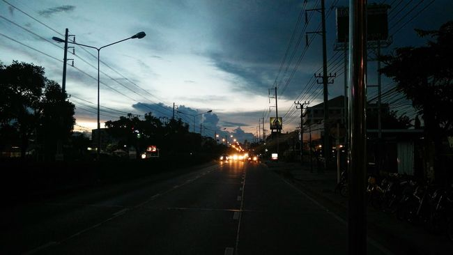 Evening Thailand Transportation Sky Sunset Mode Of Transport Cloud - Sky Road Nature Outdoors City Night Thailand Ontheroad Road
