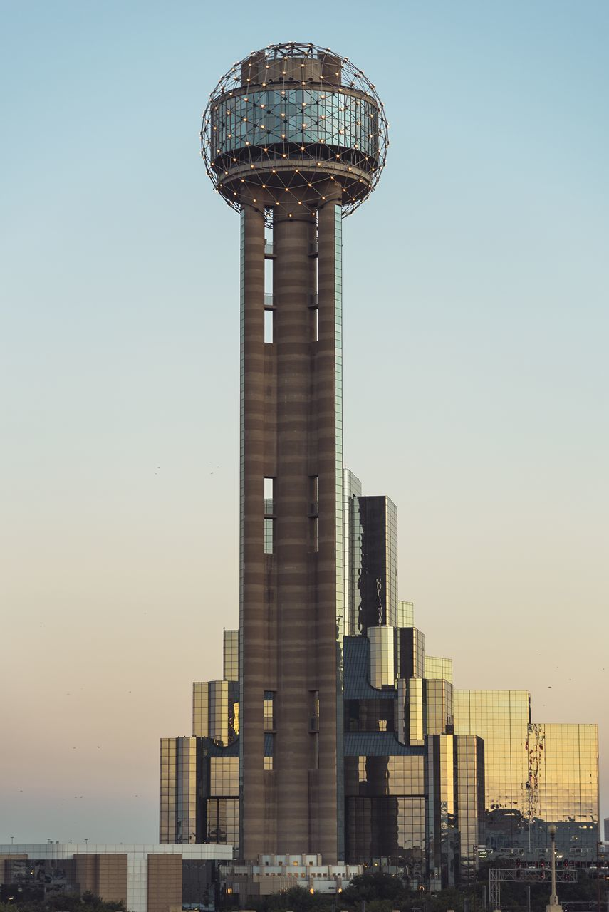 Low Angle View Of Reunion Tower Against Sky