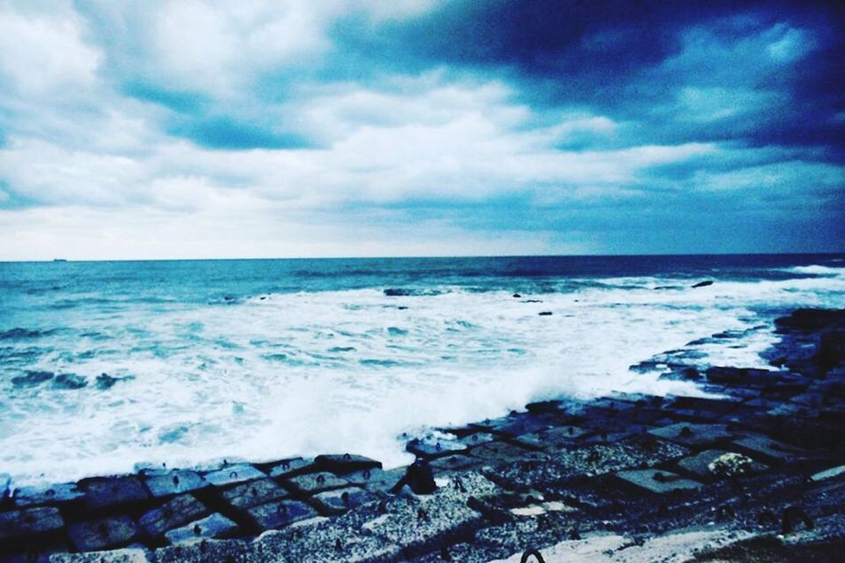 Blue Egypt Alex Alexandria Beauty In Nature Beauty Beautiful Beautiful Nature Sea Sea And Sky Sea View Sea View... Love It!  Sea Views Sea View Blue Sky Blue Sea Winter Cold Cold Days Cold Winter ❄⛄ Cold Weather Cold Day Wind