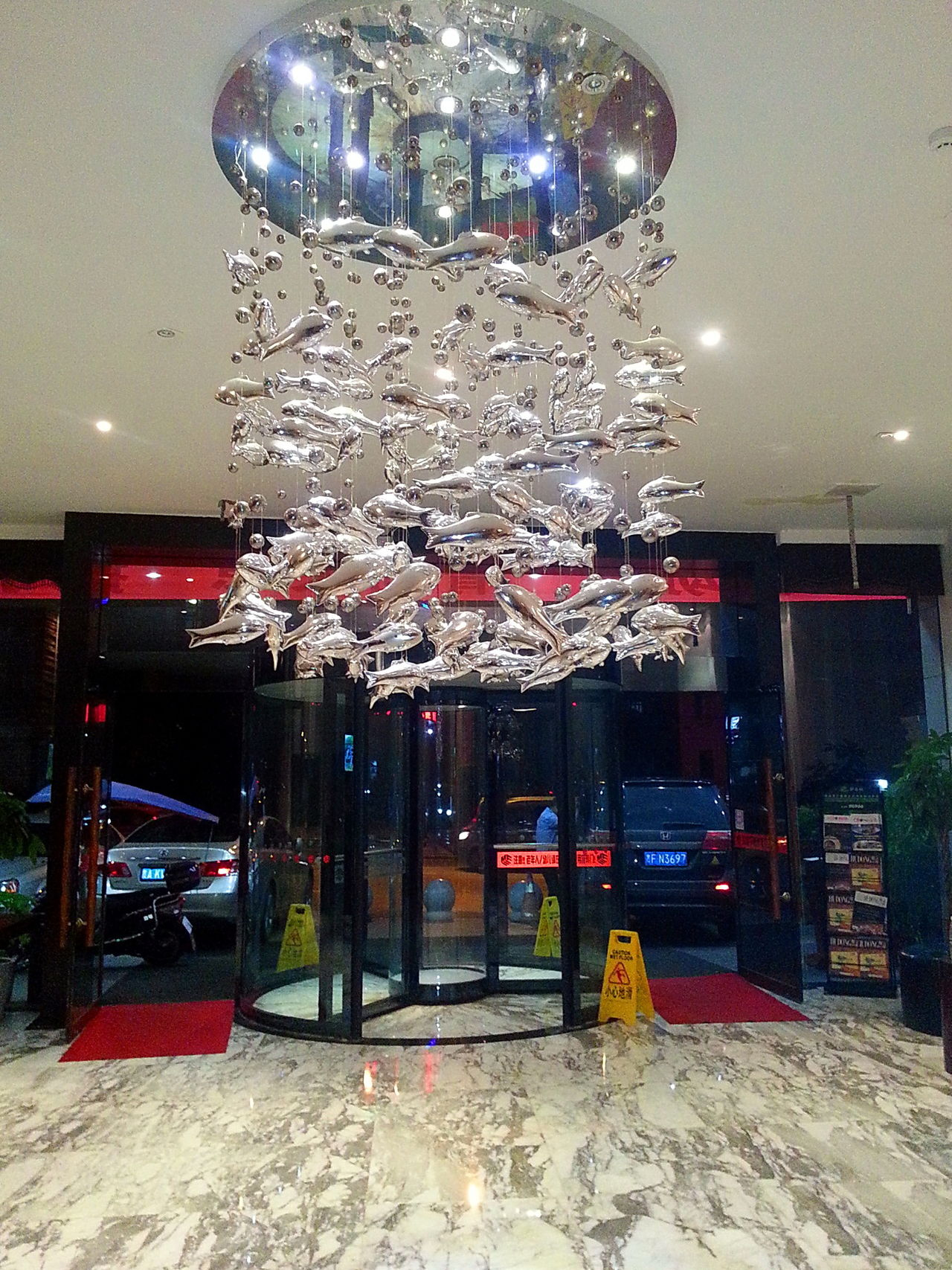 Deco Lightings Decoration Hanging Lights Hotel Hotel Lobby Illuminated Indoors  Lighting Deco Lighting Equipment Night Dolphins