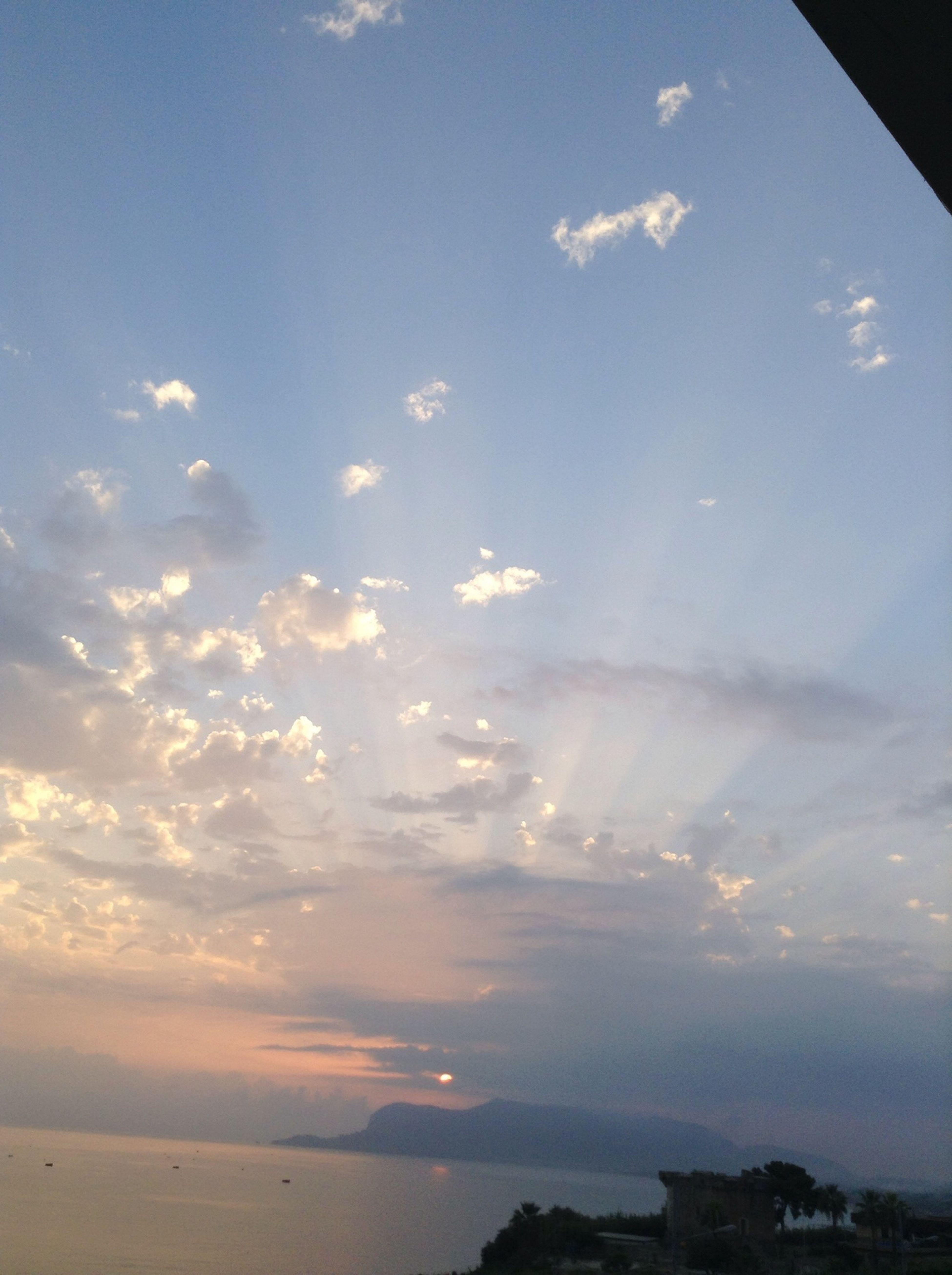 Cielo di città Red Sunset Natura Nuvole
