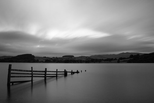 Into a clear lake Blackandwhite Black And White Monochrome Long Exposure Lake Wales Snowdonia Photography In Motion Landscapes With WhiteWall