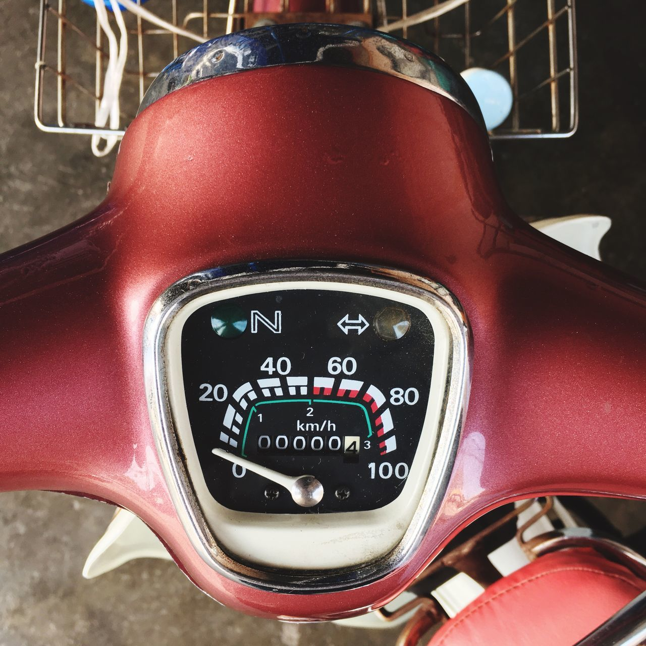 land vehicle, car, close-up, no people, mode of transport, transportation, dashboard, red, day, speedometer, outdoors
