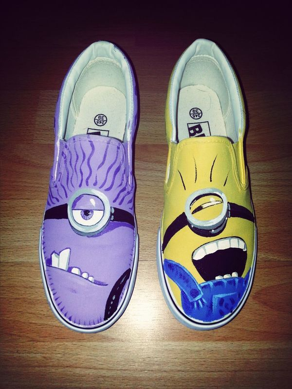 Taking Photos minions vans shoes by Baru