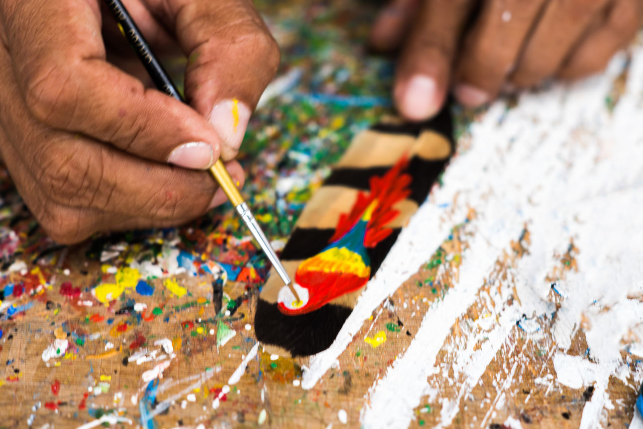 Adult Art Art And Craft ArtWork Close-up Human Body Part Human Hand Multi Colored Painting Workshop