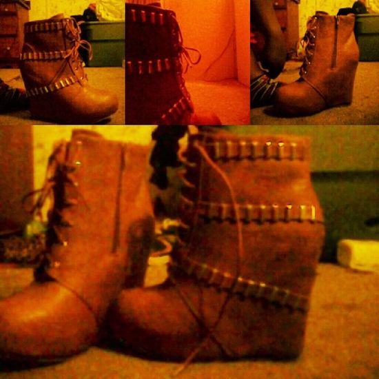 &&,I love the new edition Shoegasm ShoePorn Wedgeboot wedge heels boots brown birthday selection tan leather