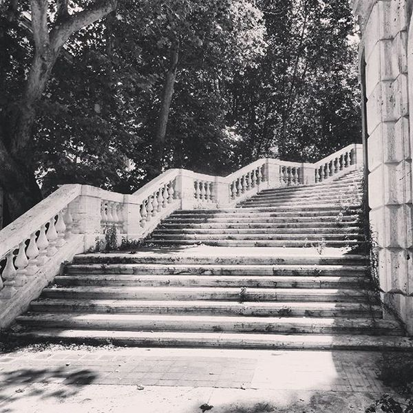 Rome Italy Discoveritaly Discovereurope Stairs Treppe Park Bellaitalia  Bellacitta Blackandwhite Travelphotography Travel Photographyislife Travelgram