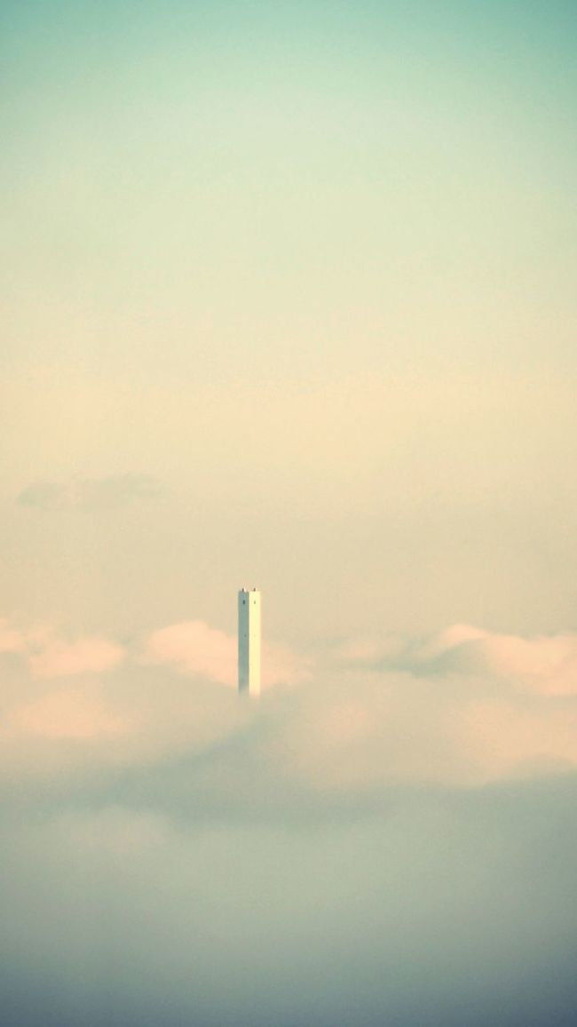 Chimney Tranquility Sky No People Air Pollution Unrealistic Cloud - Sky Architecture Hidden