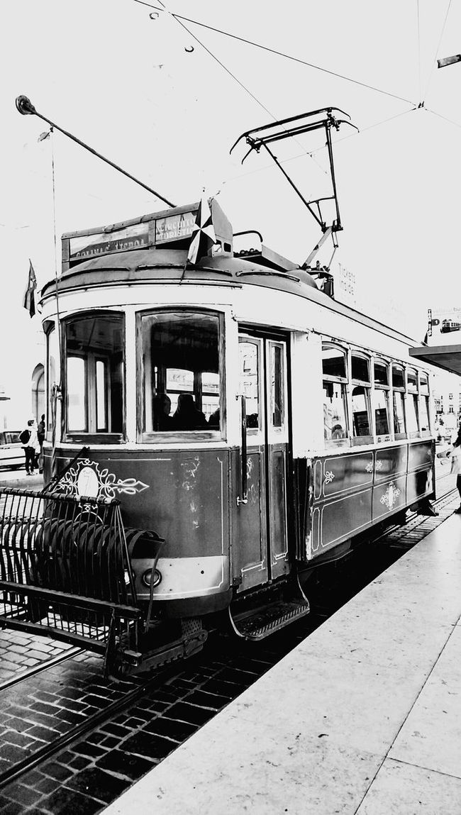Tramway Trolley Portugal Lisbon Electrico Lisboa Electrico De Lisboa Electrico28 Black And White Black & White Traveling