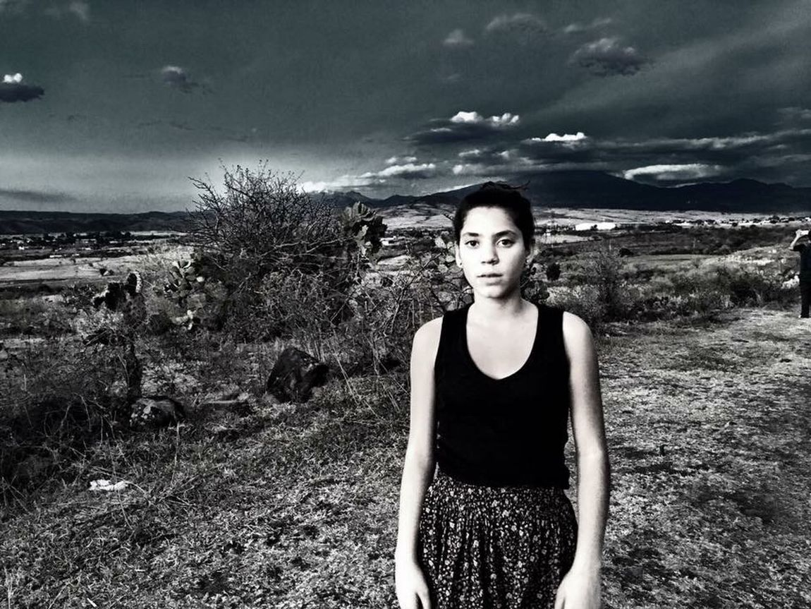 This image portrays the power to transform the landscape by a simple presence. Girl Power Mnemosine Gaze Tinted Photograph Landscape_photography Dreamy Strange Landscape Feel The Journey Fine Art Photography Colour Of Life