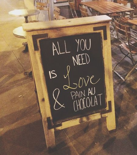 All We Need Is Love ❤️ Pain Quotidien Paris Voltaire
