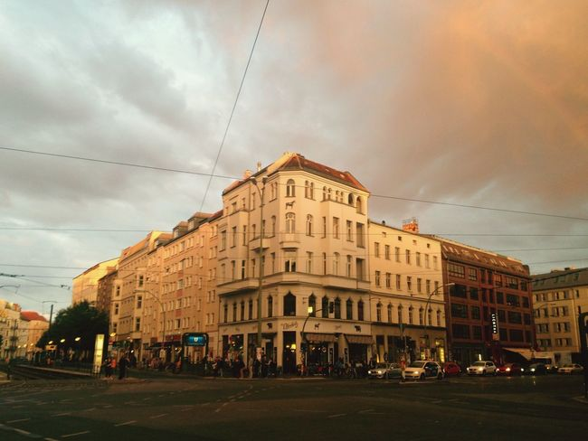 St. Oberholz, from the archives. Sunset Rainbow Architecture Sky Built Structure Cloud - Sky Building Exterior Cable City Outdoors Day