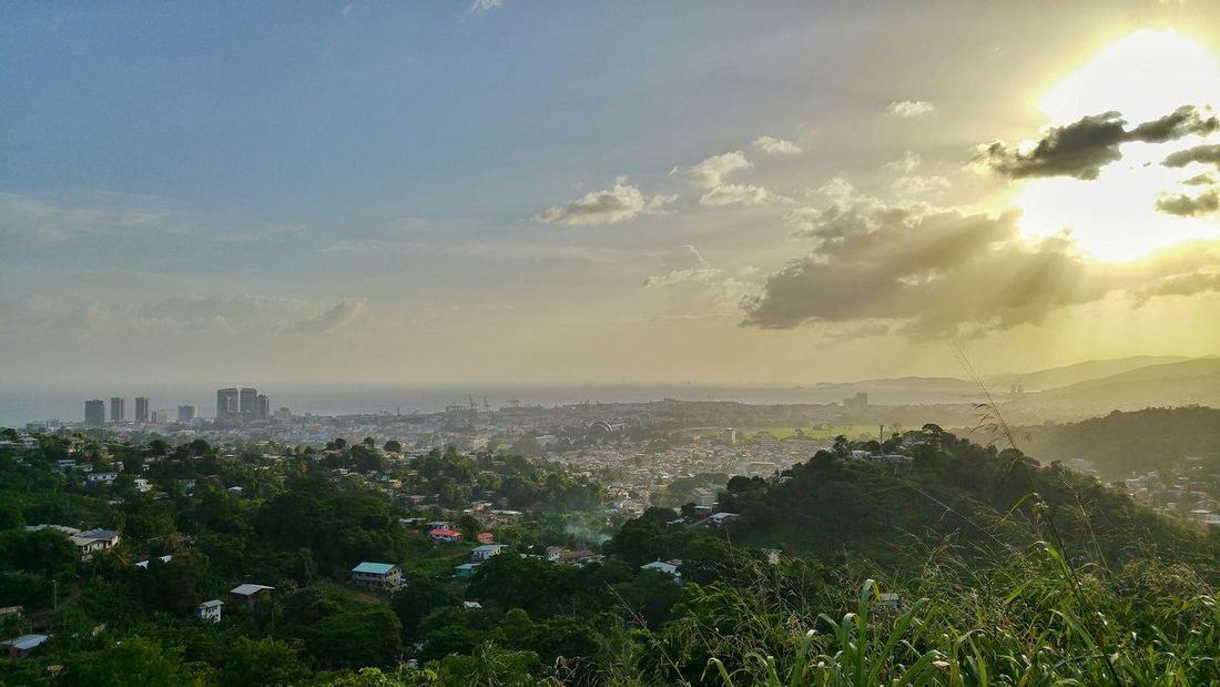 Port Of Spain From My Point Of View Sky_collection Sunshine Sky Urban Lifestyle Protecting Where We Play Cityscapes Landscape I Love My City