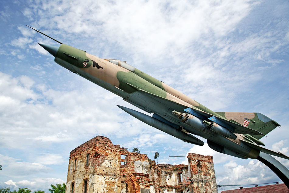 The Homeland War Museum,Turanj,Mig-21 bis 'in action',Croatia,EU Airplane Croatia Day Eu History Karlovac Mig 21 Bis Military Plane Outdoors Sky The Homeland War Museum Turanj War