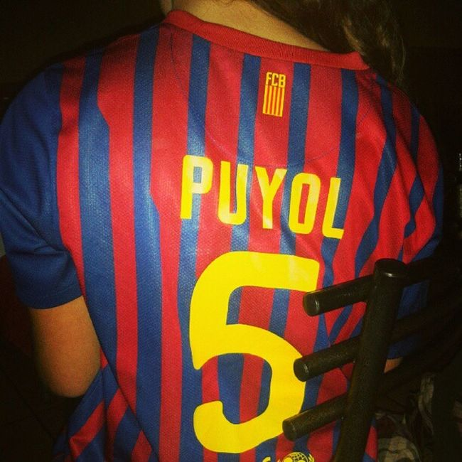 Carles Puyol Saforcada 5 central Barça match shirt