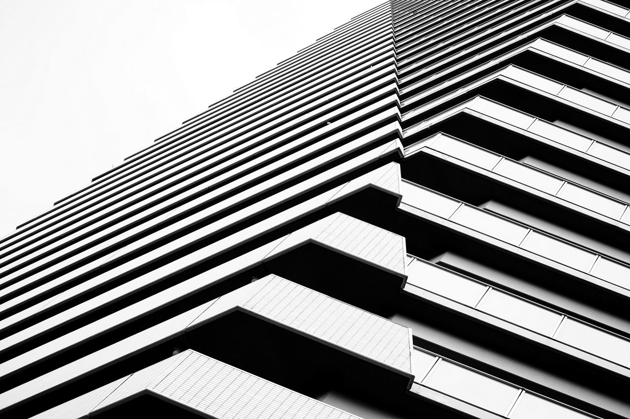 Architecture Blackandwhite Façade Low Angle View Minimalism Modern Pattern The Architect - 2017 EyeEm Awards