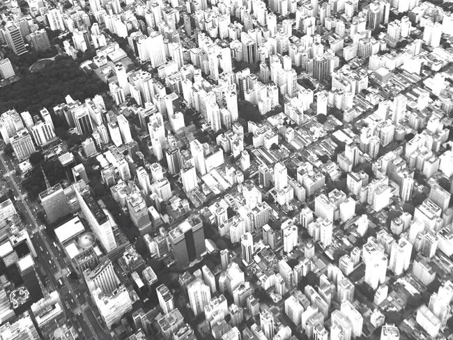 High Angle View Aerial View Outdoors Day No People City Cityscape Architecture Blackandwhite Sao Paulo - Brazil