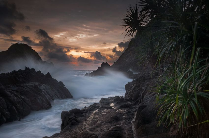 Landscape Sunset Travel Cloud - Sky Yellow Tourism Nature Travel Photography Dramatic Waves Wave Lombok Motion Water Motion Exposure MotionCapture Dramatic Wave Crashing Rock - Object Stream - Flowing Water Beauty In Nature Outdoors Water Nature Flowing Waterfall Dramatic Travel