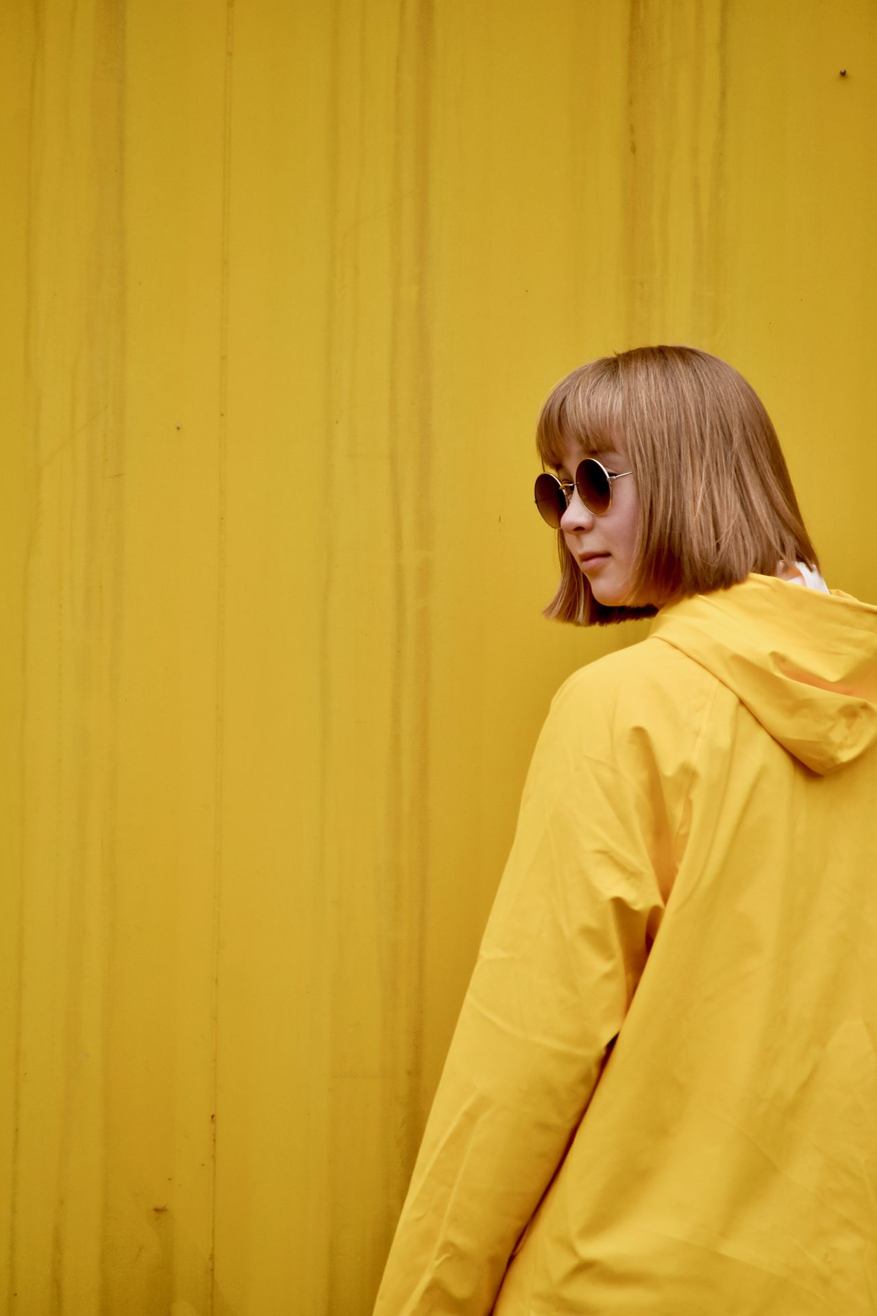 Yellow, Helsinki 30.9.2017 with Nikon D7200 Bright colors Busy day Cityscape Colors Helsinki Nikon Nikon D7200 color potrait nikonphotography one person people raincoat urban yellow yellow raincoat yellow themes Paint the Town Yellow Fresh on Market 2017