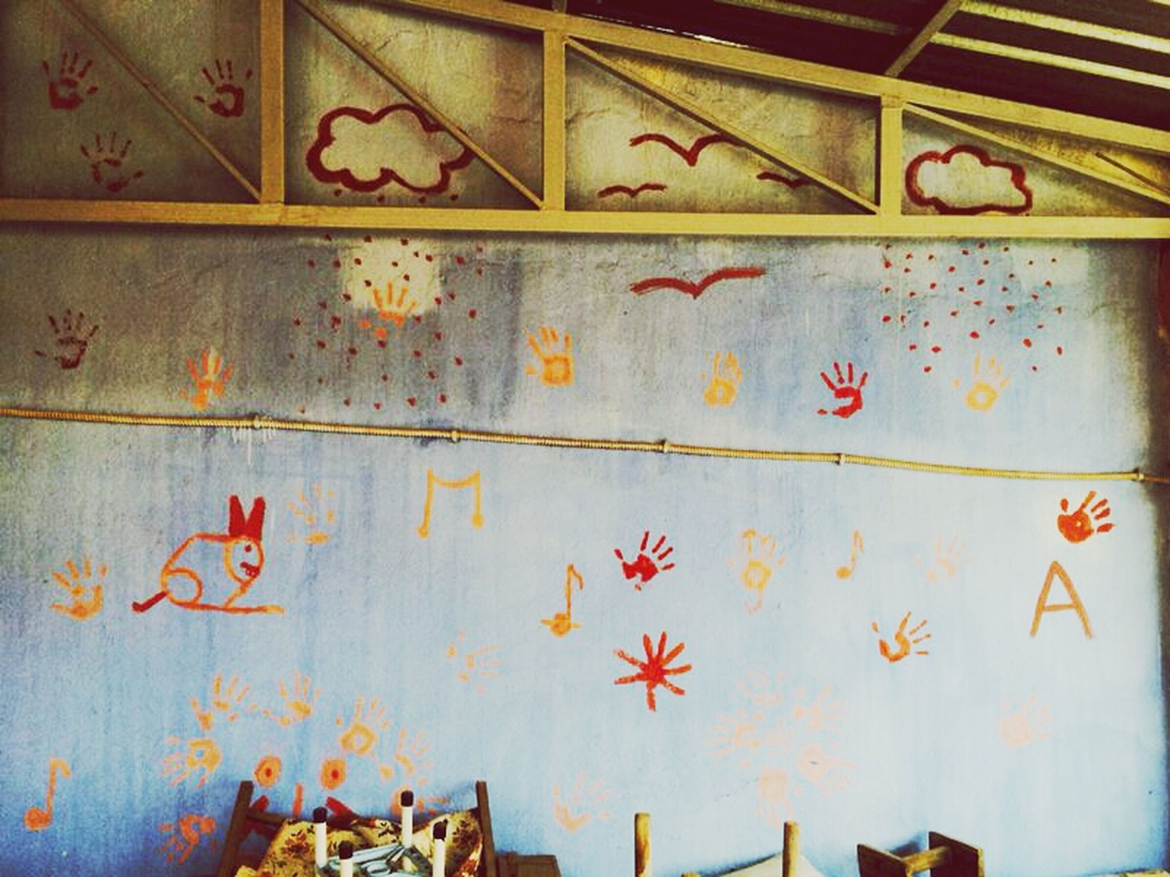 graffiti, creativity, art and craft, art, wall - building feature, indoors, built structure, architecture, multi colored, wall, wood - material, abandoned, old, text, wooden, pattern, no people, design, door, damaged