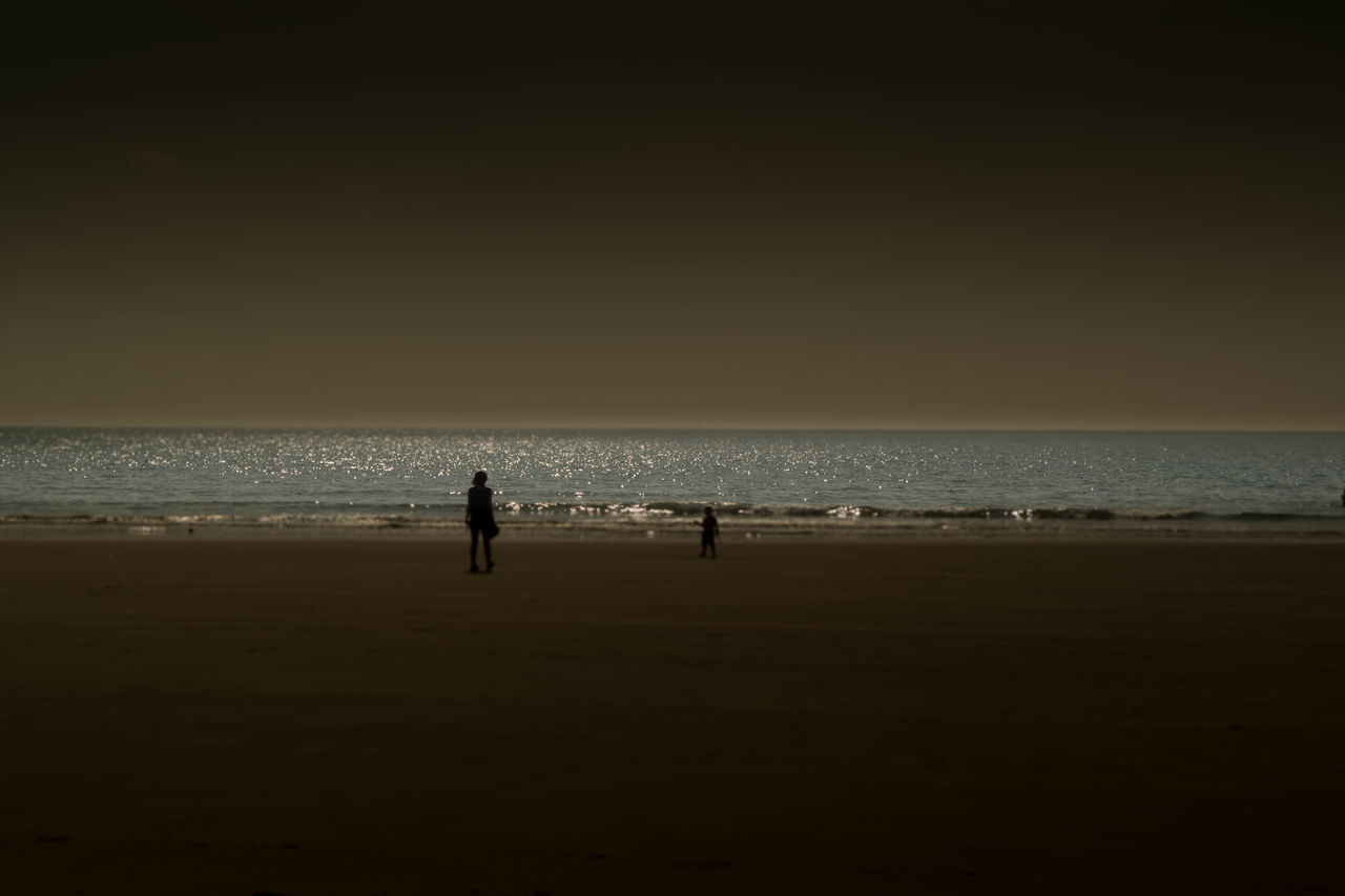 Beach Horizon Over Water Sea Seascape Silhouette Sky Tranquil Scene Water