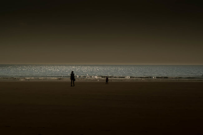 Beach Horizon Over Water Sea Seascape Silhouette Sky Tranquil Scene Water