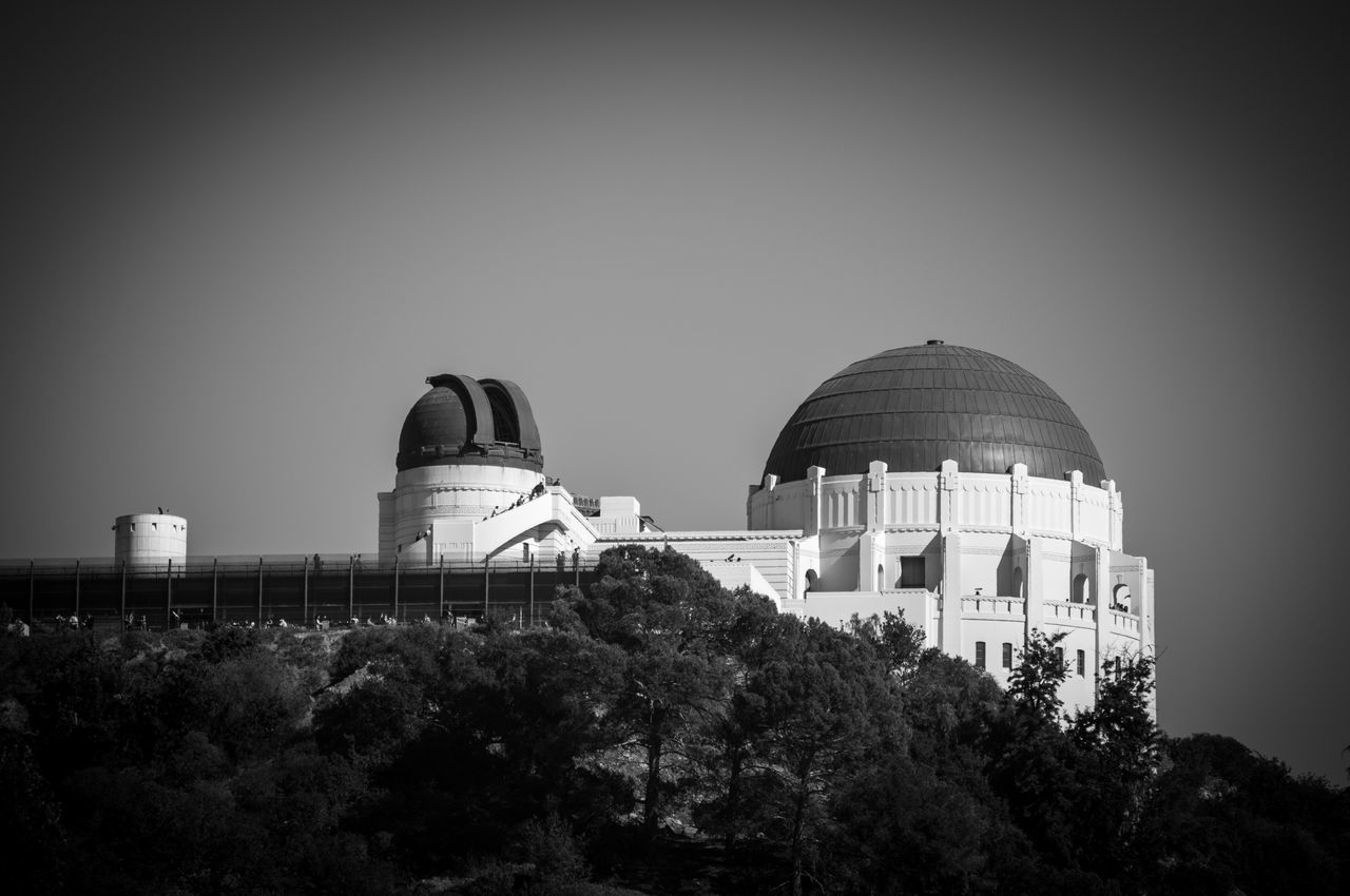 Architecture Astronomy Blackandwhite City Cityscape Dome Griffith Observatory Night Observatory Science Space Telescope Travel Destinations Vignette