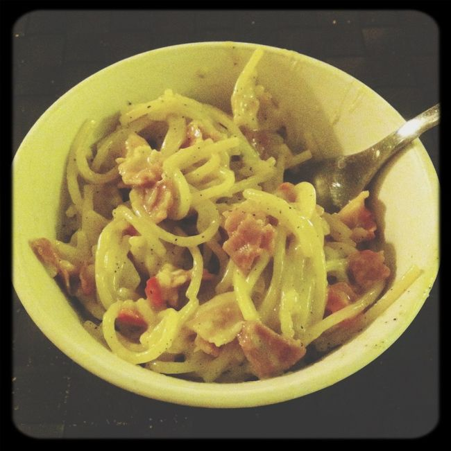 Yummyy<3 Food Carbonara Get In My Belly ! In My Mouf