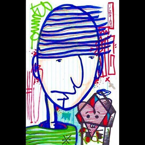Art Freehand Cabezon Huevo 016 BG Sharpie