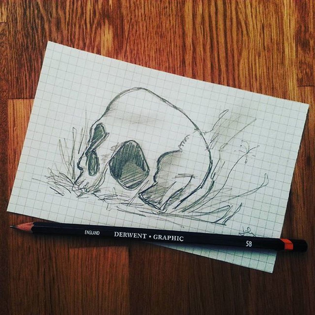Doodling again... :) Derwent Derwentgraphic 5B Phonedoodle Doodle Artist Drawing Skull Arts_help Art Artworks Sketch Artstagram Instaart Igart Pencil Greyscale