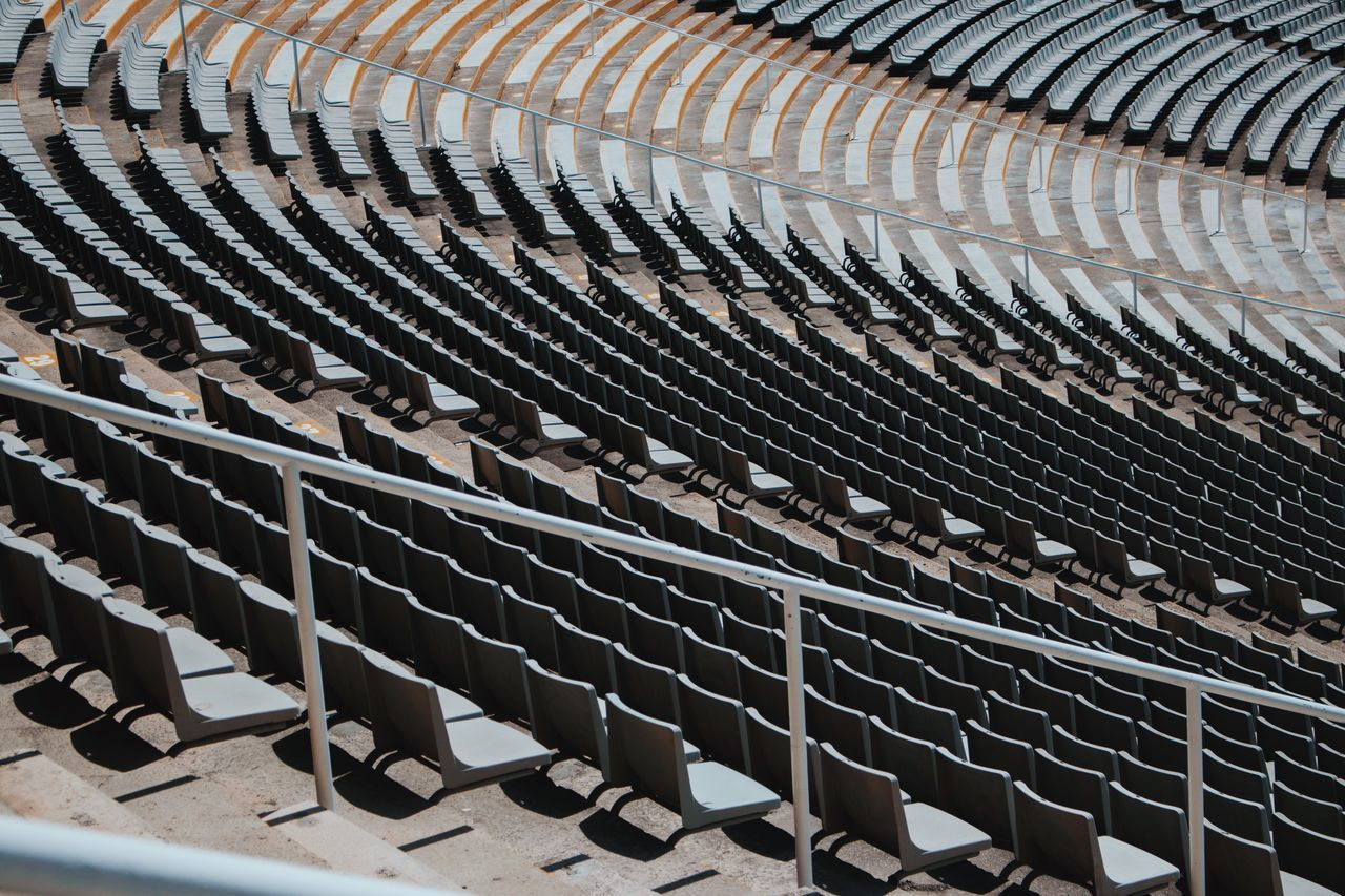 full frame no people backgrounds day pattern outdoors close-up Spain🇪🇸 Barcelona architecture photography business finance and industry Abstract Photography ArchiTexture Stairs & Shadows stadium architecture Empty Places