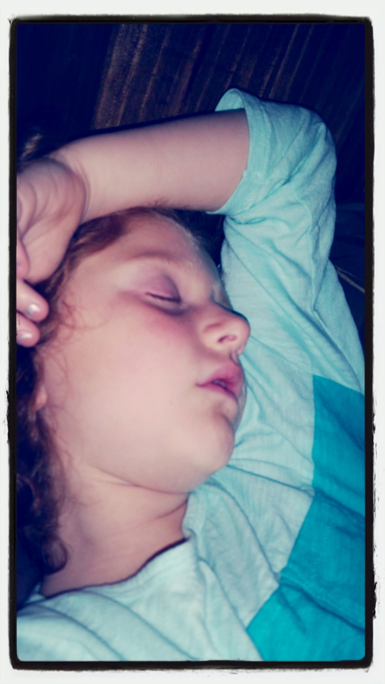 Most precious site before closing my eyes for the night......love love love this little munchkin!