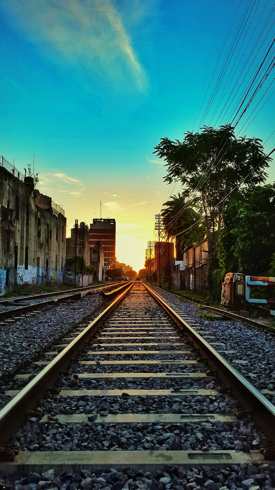 No People Outdoor Buenos Aires, Argentina  Sunset Train Sunset_collection EyeEm Buenos Aires Barrio De Flores Buenos Aires Argentina Railroad Colors
