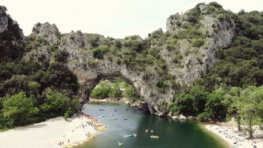 Kayaking on the River Ardeche Gorges De L'Ardèche Vallon Pont D'arc Nature The Great Outdoors - 2016 EyeEm Awards The Essence Of Summer
