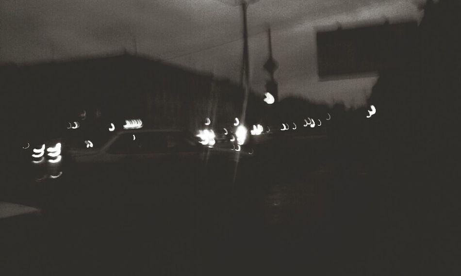 Street Light Night Life Silhouette