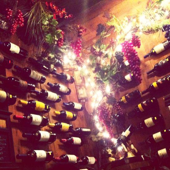 Wine Bottles Dinner Time Taking Photos Hello World