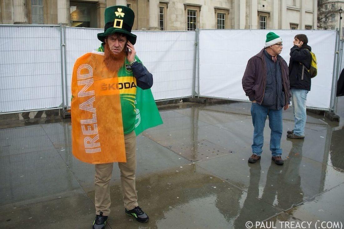 (C) PAUL TREACY (.com) 2013. Saint Patrick's Day 2013 in Trafalgar Square, London. Streetphotography Saint Patrick's Day X100 Fujifilm