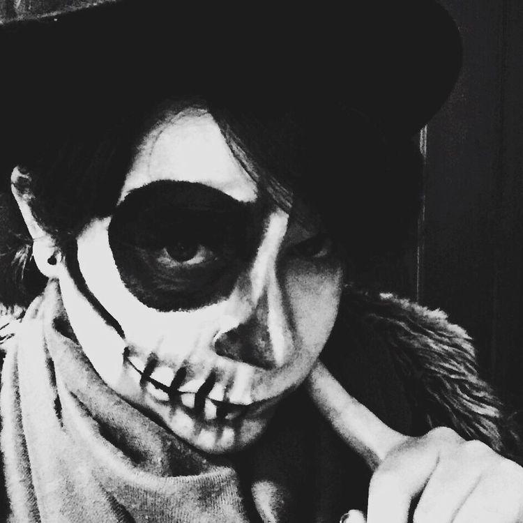 Myself Skullface Bodypainting Horror Skullmakeup