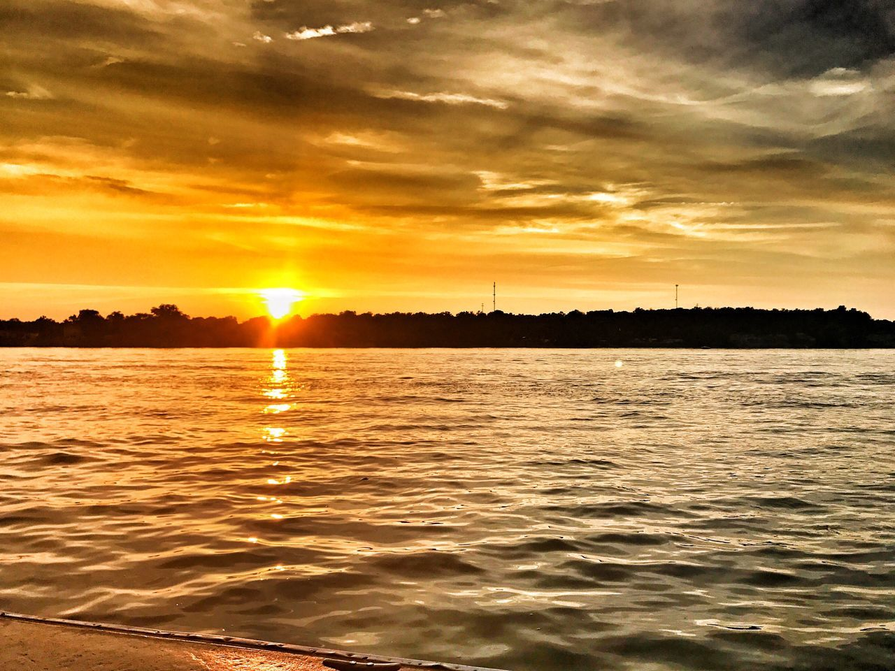 Gorgeous Louisville sunset on the river. Sunset Sun Reflection Beauty In Nature Orange Color Scenics Water Sky Cloud - Sky Tranquility Tranquil Scene Waterfront Louisville Kentucky