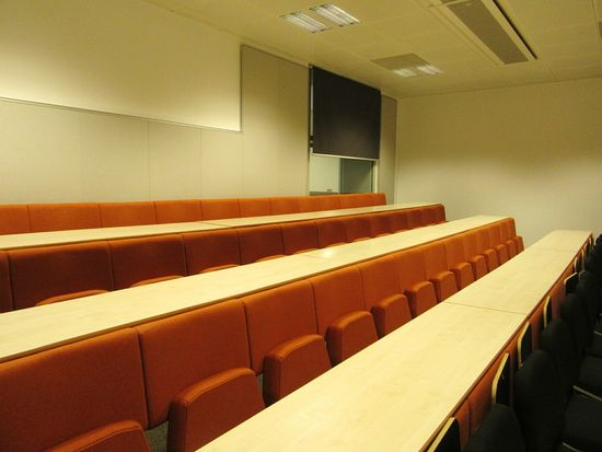 School of Music / lecture room Indoors  Empty Absence Ceiling Built Structure Architecture In A Row Repetition Modern Order No People Lecture Room Music School The Color Of School Beautifully Organized Cork City Ireland