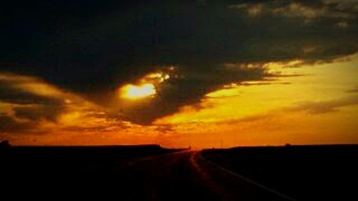 Sunset Landscape Cloud - Sky Tranquility Tranquil Scene Rural Scene Sky Heaven Iowa Silhouette EyeEm Dramatic Sky EyeEm Gallery Extreme Weather Art Is Everywhere EyeEmBestPics EyeEmNewHere Tranquility Beauty In Nature Iowa Life Eye4photography  Sunbeam Yellow Heart