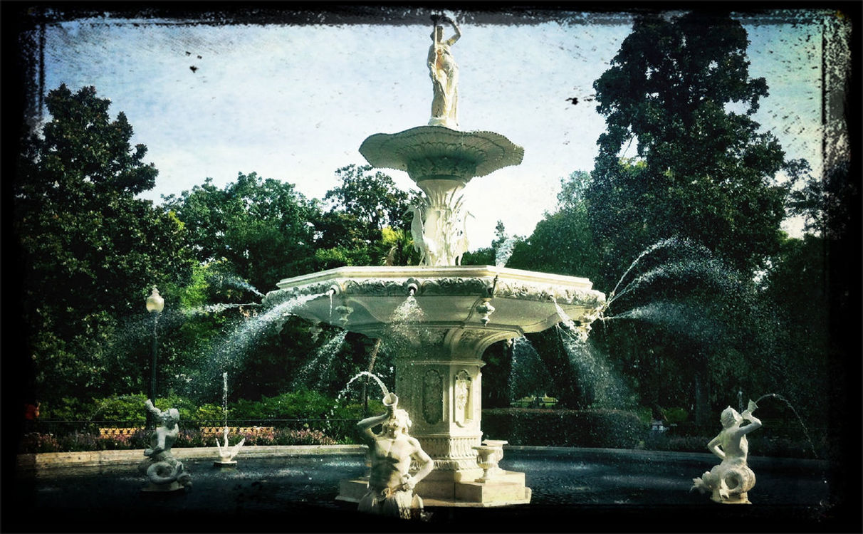 Fountain at Forsyth Park Fountain by Chris Bautista
