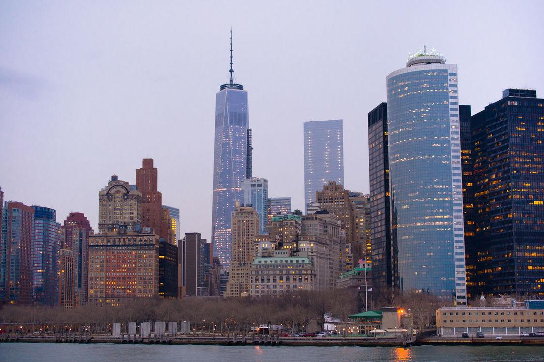Arhitecture Beautiful Bridge Building East River East River, NYC Evening Ferry Light Manhattan Modern Must See New York NYC Scyscraper Sityscape Sky Staten Island Ferry Travel Traveling Trip Urban Urban Geometry USA View